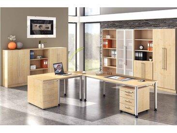 EXPRESS H-Serie Büromöbel Set, 1 Arbeitsplatz, 400x400cm
