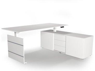 MOVE 3 Schreibtisch mit Sideboard, 180x80cm