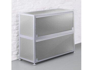 CORST Klappenschrank, Dekor Silber, Breite 120cm, 2-OH, 3-OH oder 4-OH
