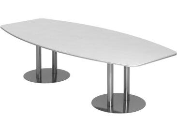 EXPRESS KT Konferenztisch in Fassform mit Tellerfüßen, verchromt b280xt130/85cm