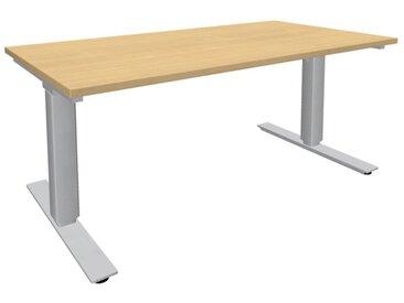 EXPERT Steh-Sitz-Schreibtisch, rechteckig, 100cm tief