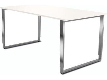 AVETO Schreibtisch mit Kufengestell b160xt80xh68-82cm