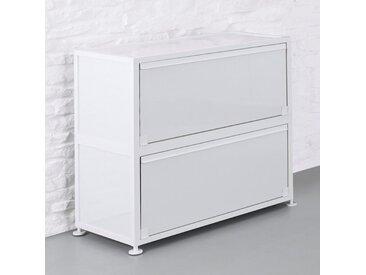 CORST Klappenschrank, Dekor Weiss, Breite 120cm, 2-OH, 3-OH oder 4-OH