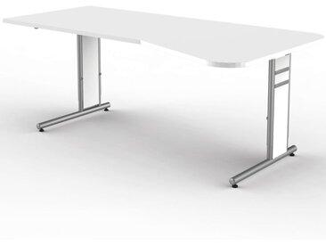 FORM 4 Schreibtisch Ergoform, 195x80-100cm