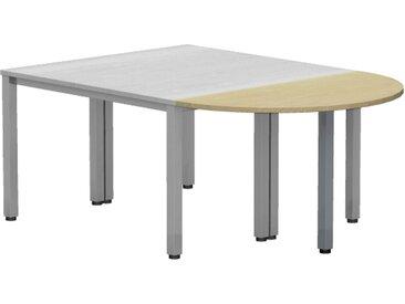 EXPERT Anbauelement, halbrund mit Quadratrohrfüßen, 60 oder 80cm tief