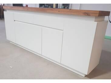 Fredriks Sideboard Roble III 200 cm matt weiß inkl. Beleuchtung Top B-Ware
