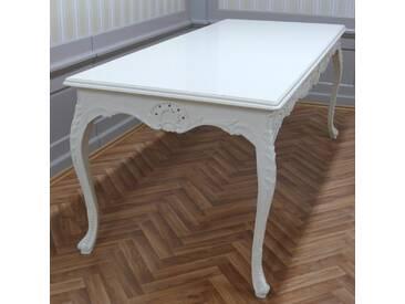 Barock Tisch in holz rechteckig Antik Stil LouisXV AlTa0690Hz