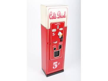 point-home CD/DVD-Schrank Getränkeautomat im Retrolook rot/weiß 88cm