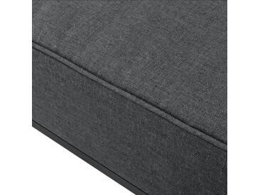 [en.casa]® Sessel dunkelgrau - für Wohnlandschaft - bestehend aus Gestell und bequemen Polsterkissen