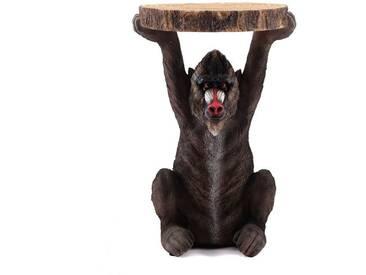 Beistelltisch animal Baboon | Ø 35 cm, Kunststein | Kare 82357