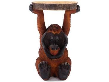 Beistelltisch animal Orang Utan | Ø 35 cm, Kunststein | Kare 82356