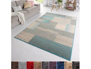 Velours Design Teppich Marble | Kurzflor grau, taupe, braun, cacao