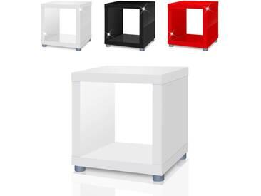 Regalwürfel Mexx, Beistelltisch, Kasten, Regal, Würfel, Cube in 4 Farben B-Ware - weiss