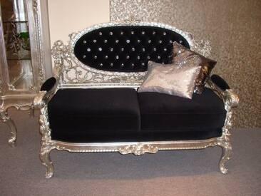 Barock Sofa 2er aus Salon Antik Stil Vp0872