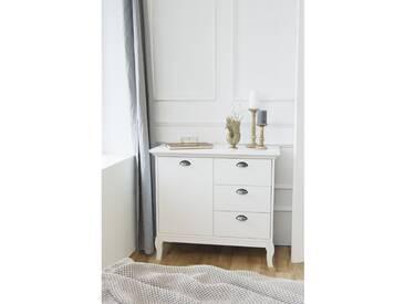 Landhaus Schubladenkommode Kommode Beistellkommode Sideboard Barock Stil 002591 provence 4 weiß