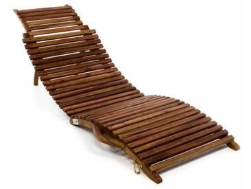 Divero Strandliege Faltbar Sonnenliege Gartenliege Liege Aus Akazie Holz  Faltlie