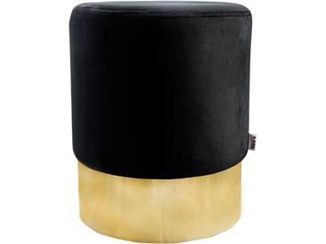 Sitzhocker Hocker Designer Retro Look Schwarz Gold Wohnaccessoires