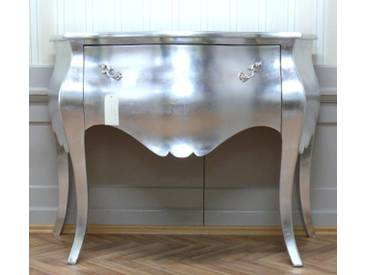 Barock Kommode, Antik Stil silber ShabbyChic AlKm1020Si