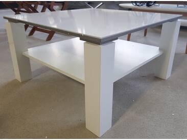 Fredriks Couchtisch Vidora Hochglanz Weiß 75 cm x 75 cm MDF-Platte Top B-Ware