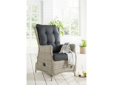 Destiny Loungesessel Casa Relax Vintage Weiß Sessel Polyrattan Gartensessel Sofasessel & Polster