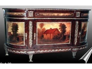 Barock Kommode mit Bemalung, Antik Stil Gemälde, Bild MoPa0030