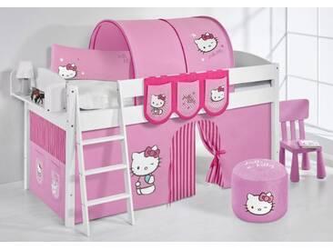 Spielbett IDA Hello Kitty Rosa - Systembett Lilokids - Weiß -