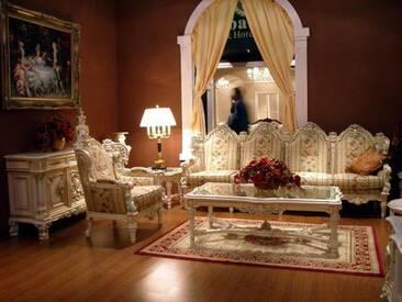 Barock Salon Sofa 4er Sessel Tisch Antik Stil Vp0840/4