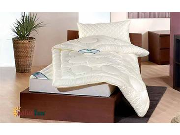 f.a.n. Derby - 200x200 cm, Winter Bettdecke, Wollsiegel Qualität, Doppelbett