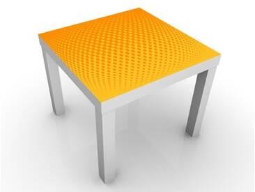 Beistelltisch - Retro Disco Kugel - Tisch Gelb Orange