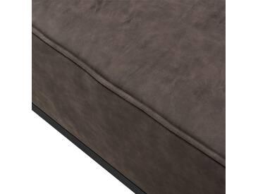 [en.casa]® Eck-Sessel dunkelbraun - für Wohnlandschaft - bestehend aus Gestell und bequemen Polsterk