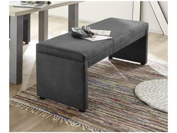 Malta/150 Vintage Anthrazit grau Bank Sitzbank Küchenbank Tischgruppe Polsterbank 150 cm ohne Lehn - anthrazit