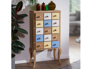 Highboard Farid Anrichte Kommode Retro Schubladenkommode Holz Massiv