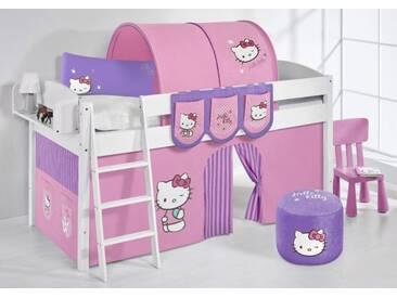 Spielbett IDA Hello Kitty Lila - Systembett Lilokids - Weiß -