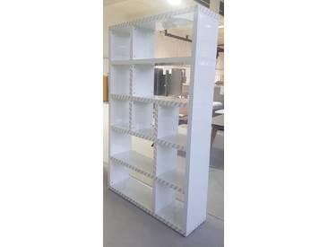 Fredriks Regal Madina 3x5 Hochglanz Weiß 203 cm hoch 122,8 cm breit Top B-Ware