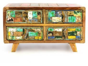 Divero Vintage Sideboard Wäscheschrank Anrichte Kommode Unikat aus Recycling- B