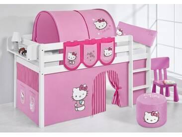 Spielbett Jelle Hello Kitty Rosa - Hochbett Lilokids - Weiß -