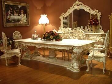 Barock Esstisch Tisch Tafel Barock Rokoko Vp9975-4,0/01A