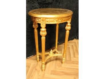 Beistelltisch Tisch Oval Antik Stil Barock AlTa0334GoOvI