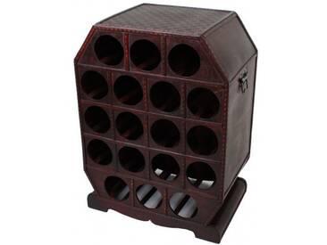 Weinregal Holz Kolonialstil 18 Flaschen Wein Flaschenregal Getränkeregal Regal