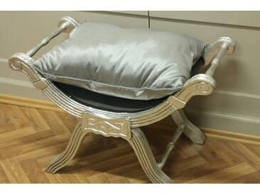 Barock Bankett Scheren Stuhl Antik Stil LouisXV Hocker AlCh0055SiSi