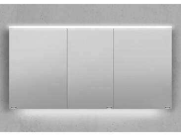 Spiegelschrank 140 cm integrierte LED Beleuchtung doppelt verspiegelt