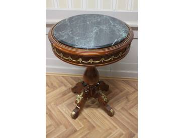 Barock Beistell - Tisch antik Stil MkTa0094Gn Marmor grün