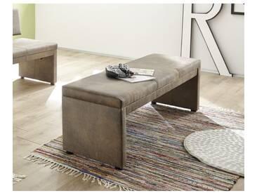 Malta/150 Vintage Braun Bank Sitzbank Küchenbank Tischgruppe Polsterbank ohne Lehne ca. 150 cm bre - braun