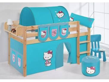 Spielbett Jelle Hello Kitty Türkis - Hochbett Lilokids - Natur -