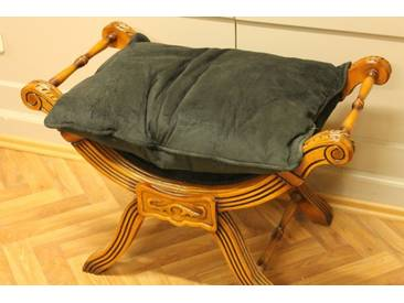 Barock Bankett Scheren Stuhl Antik Stil LouisXV Hocker AlCh0055HzSw