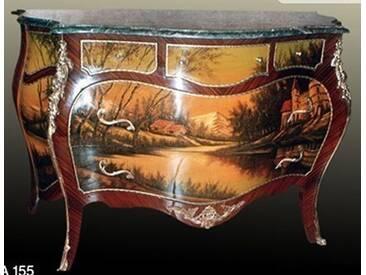 Barock Kommode mit Bemalung, Antik Stil Gemälde, Bild MoPa0155