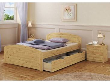 Doppelbett Kiefer 160x200 Bettkasten Federholzrahmen Matratze Bettdecke Kopfkissen 60.50-16 MB FS