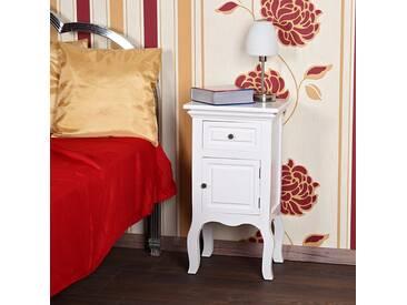 Kommode Nachttisch Nachtschrank Schrank Weiß Shabby Nachtkonsole Landhaus NEU