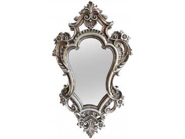 Wunderschöner Spiegel im nostalgie Design silber old Look Wandspiegel 48x28 cm