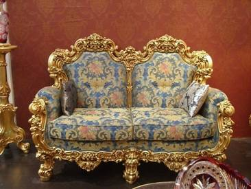 Barock Sofa 2er 2Sitzer aus Salon Antik Stil Vp0892